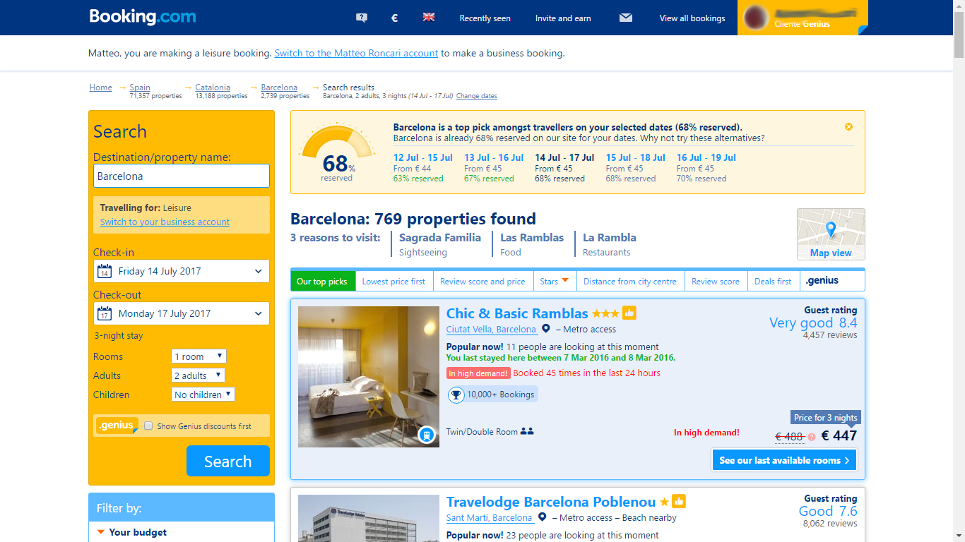 With The Many Options Available On Booking You Can Find Most Affordable Accommodation For Price Distance From City Center Customer Rating